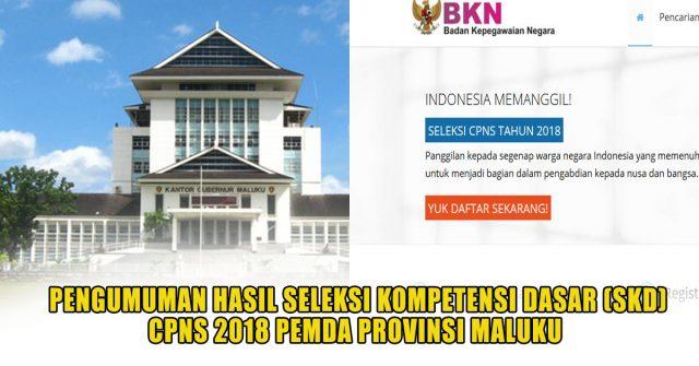 Hasil Seleksi SKD CPNS 2018 Pemda Provinsi Maluku