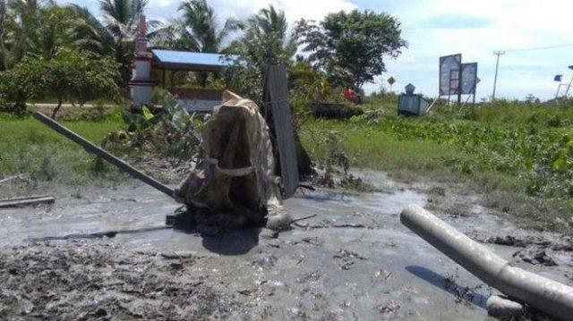 Semburan Gas Mirip Lapindo Muncul di Maluku Tengah