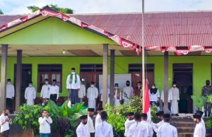 Kanwil Kemenag Maluku Gelar Upacara Hari Santri Dengan Terapkan Protokol Kesehatan